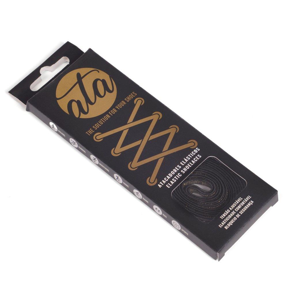 Cordones elásticos Ata® color negro dorado